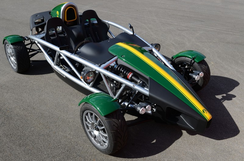 Ariel Atom - green with yellow stripes