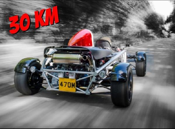 Åk med en Ariel Atom 30 km